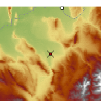 Nearby Forecast Locations - Kunduz - mapa