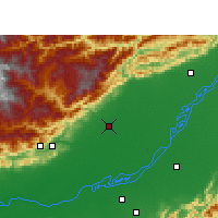 Nearby Forecast Locations - North Lakhimpur - mapa