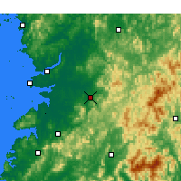 Nearby Forecast Locations - Jeonju - mapa