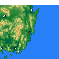 Nearby Forecast Locations - Ulsan - mapa
