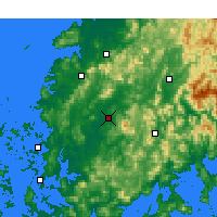 Nearby Forecast Locations - Gwangju - mapa