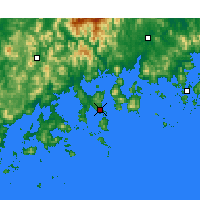 Nearby Forecast Locations - Yeosu - mapa