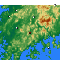 Nearby Forecast Locations - Suncheon - mapa