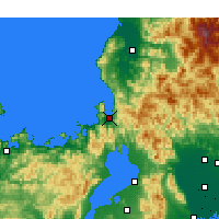 Nearby Forecast Locations - Tsuruga - mapa