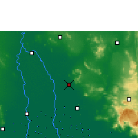 Nearby Forecast Locations - Lop Buri - mapa