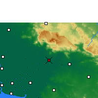 Nearby Forecast Locations - Prachinburi - mapa