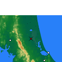 Nearby Forecast Locations - Phatthalung - mapa