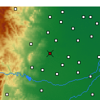Nearby Forecast Locations - Handan - mapa