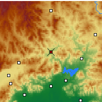 Nearby Forecast Locations - Tanghekou - mapa