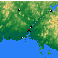 Nearby Forecast Locations - Dandong - mapa