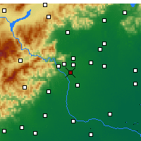 Nearby Forecast Locations - Fengtai/Pekin - mapa
