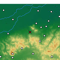 Nearby Forecast Locations - Zhangqiu - mapa