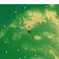 Nearby Forecast Locations - Tai'an - mapa