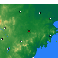 Nearby Forecast Locations - Zhucheng - mapa