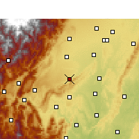 Nearby Forecast Locations - Pujiang/SCH - mapa