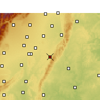 Nearby Forecast Locations - Longquanyi - mapa