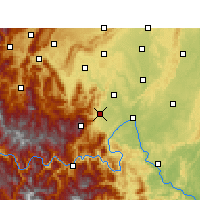 Nearby Forecast Locations - Emei Shan - mapa