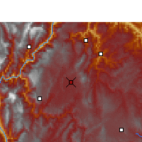 Nearby Forecast Locations - Zhaotong - mapa