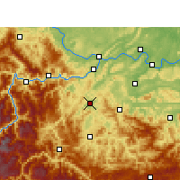Nearby Forecast Locations - Gao Xian - mapa