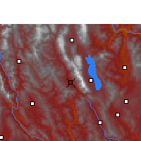 Nearby Forecast Locations - Yangbi - mapa
