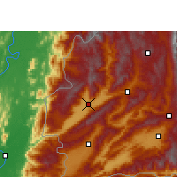Nearby Forecast Locations - Yingjiang - mapa