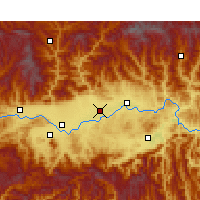 Nearby Forecast Locations - Chenggu - mapa