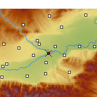 Nearby Forecast Locations - Jinghe - mapa