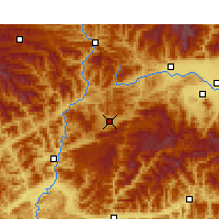 Nearby Forecast Locations - Ningqiang - mapa