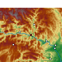 Nearby Forecast Locations - Zigui - mapa