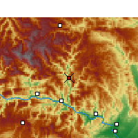 Nearby Forecast Locations - Xingshan - mapa