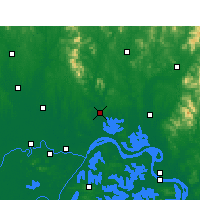 Nearby Forecast Locations - Huangpi - mapa