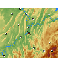 Nearby Forecast Locations - Ba Xian - mapa