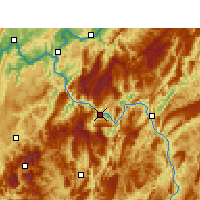 Nearby Forecast Locations - Wulong - mapa