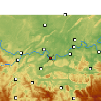 Nearby Forecast Locations - Jiangan - mapa