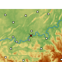 Nearby Forecast Locations - Luzhou - mapa