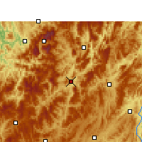 Nearby Forecast Locations - Zheng'an - mapa