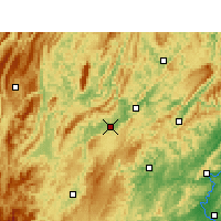 Nearby Forecast Locations - Huayuan - mapa
