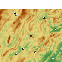 Nearby Forecast Locations - Yongshun - mapa