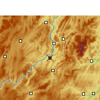 Nearby Forecast Locations - Kuangtou - mapa