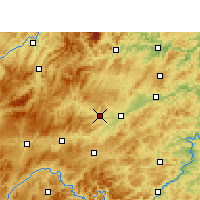 Nearby Forecast Locations - Cengong - mapa