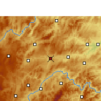 Nearby Forecast Locations - Shibing - mapa