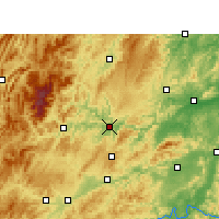 Nearby Forecast Locations - Tongren - mapa