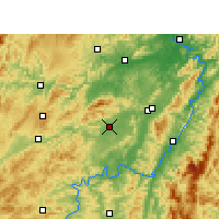 Nearby Forecast Locations - Zhijiang - mapa