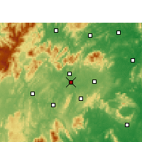 Nearby Forecast Locations - Shaoyang - mapa