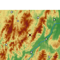 Nearby Forecast Locations - Ziyuan - mapa