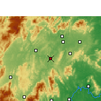 Nearby Forecast Locations - Shaoyang Xian - mapa