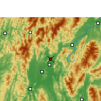 Nearby Forecast Locations - Lingchuan - mapa