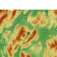 Nearby Forecast Locations - Guanyang - mapa