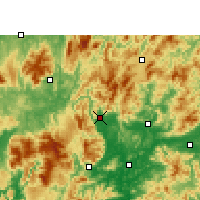 Nearby Forecast Locations - Lechang - mapa
