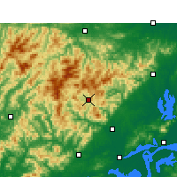 Nearby Forecast Locations - Yuexi/ANH - mapa